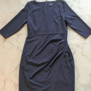NYDJ Cobalt Josette Stretch Crepe Sheath Dress